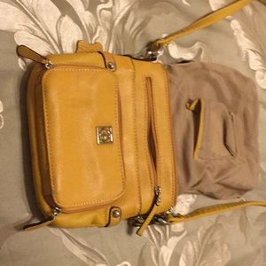 Carmel colored shoulder bag